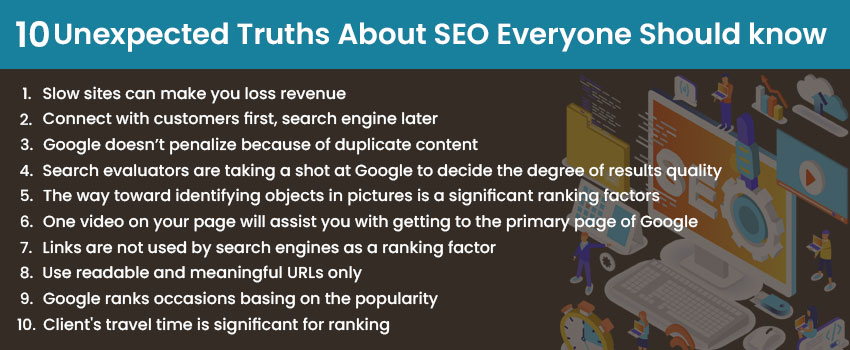 10 Unexpected Truths About SEO Everyone Should know